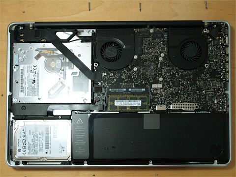 MacBook Pro を開ける